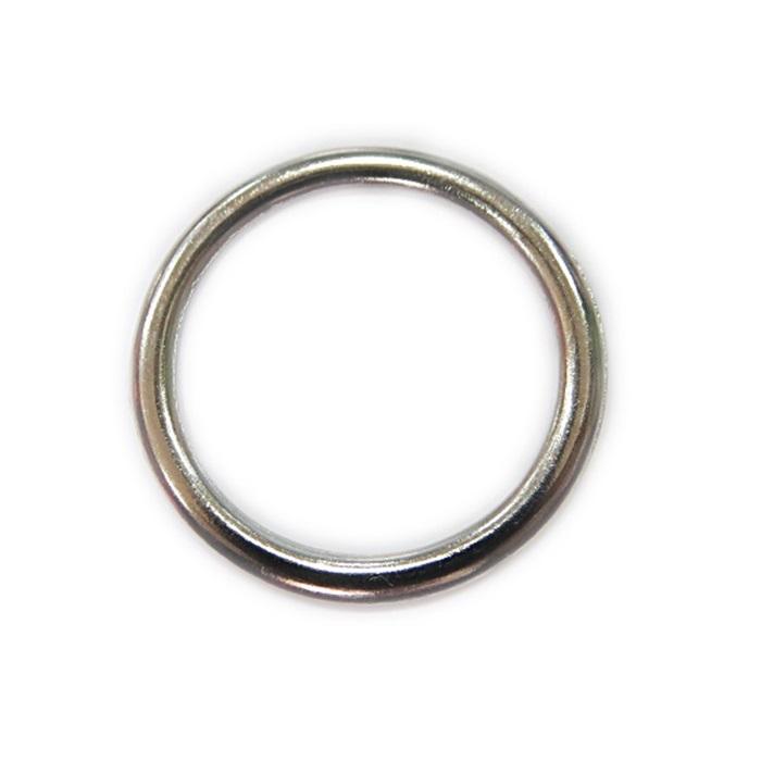 Argola de metal níquel achatada 7cm (5 unidades)- AM007