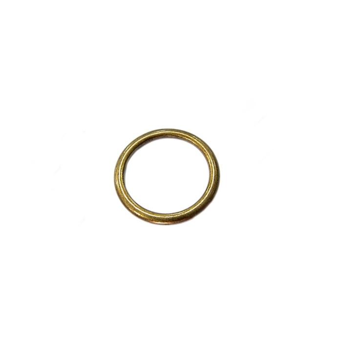 Argola de metal ouro velho 4cm (5 unidades)- AV004