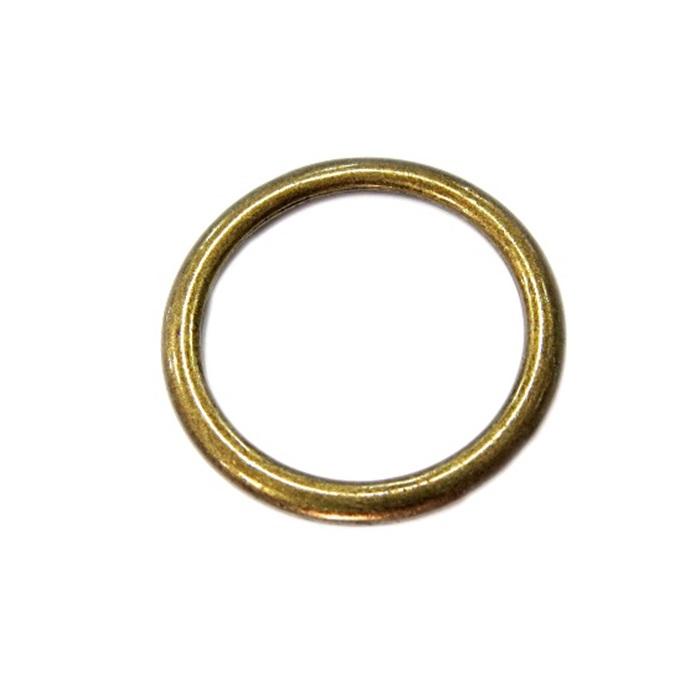 Argola de metal ouro velho achatada 7cm (5 unidades)- AV006