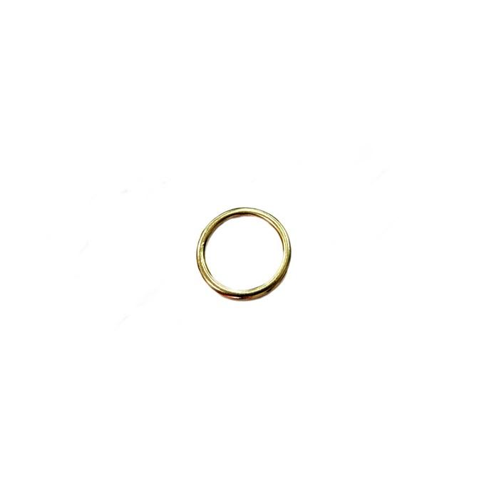 Argola de metal dourada Achatada 2,5cm (10 unidades)- AD002