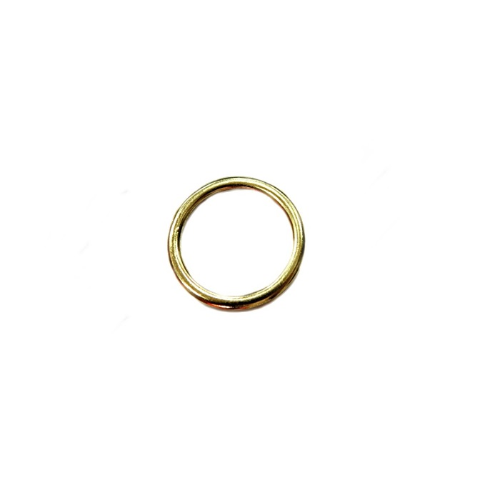 Argola de metal dourada achatada 3cm (10 unidades)- AD003