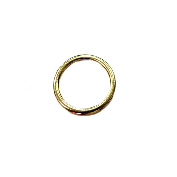 Argola de metal dourada achatada 3,5cm (10 unidades)- AD004