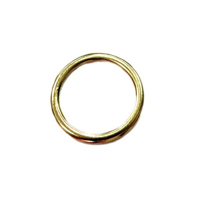 Argola de metal dourada achatada 4,5cm (5 unidades)- AD005