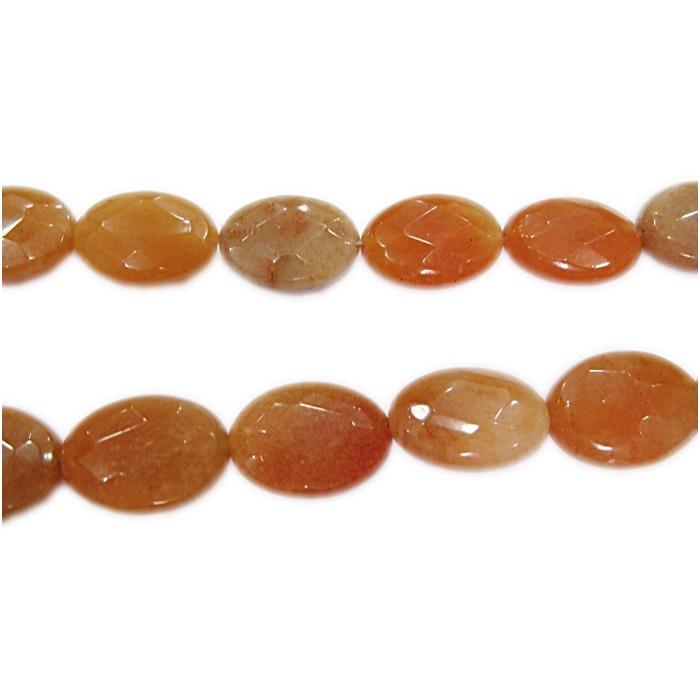 Aventurina laranja pastilha oval- PDN026