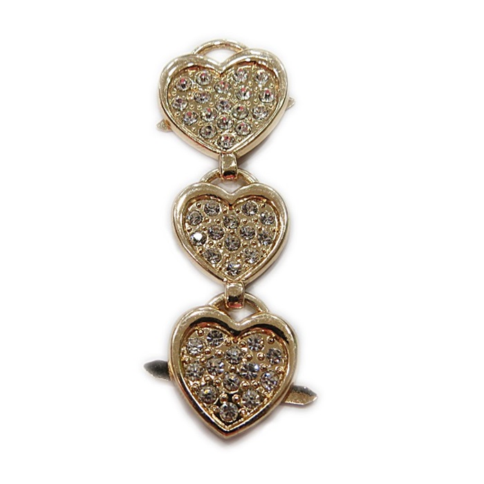 Entremio de garra dourado 3 corações- EG015