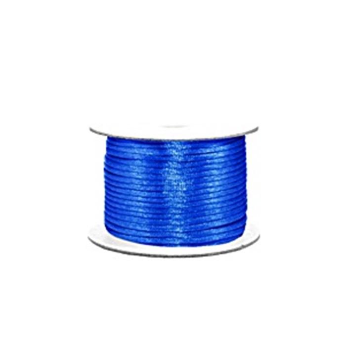 Cordão de seda grosso azul royal (50 mts)- FSG001 ATACADO