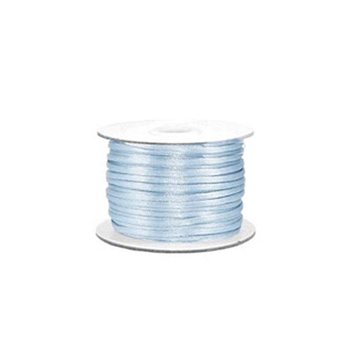 Cordão de seda grosso azul bebe (50 mts)- FSG002 ATACADO