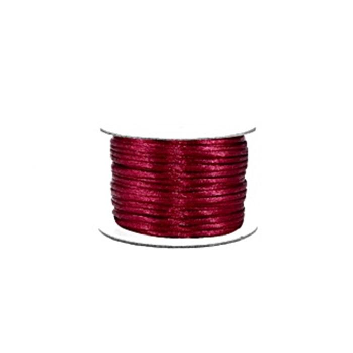 Cordão de seda grosso vinho (50 mts)- FSG003 ATACADO