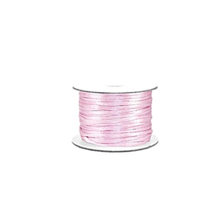 Cordão de seda grosso rosa bebe (50 mts)- FSG004 ATACADO