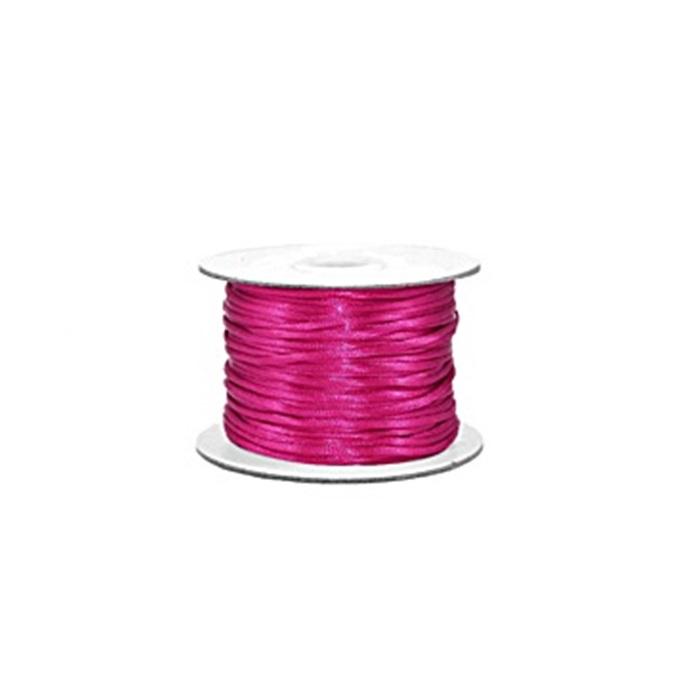 Cordão de seda grosso Pink (50 mts)- FSG006 ATACADO