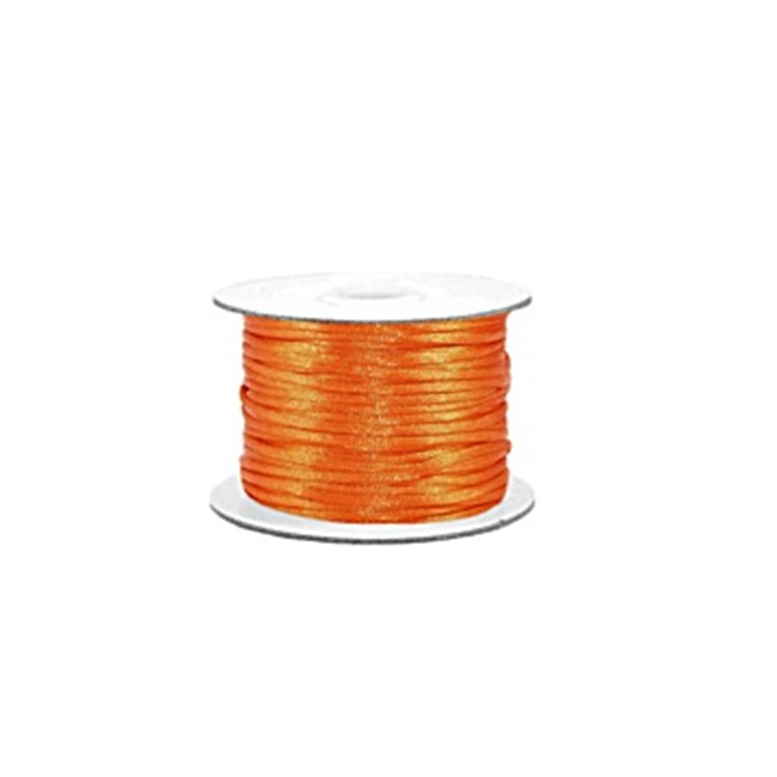Cordão de seda grosso laranja (50 mts)- FSG007 ATACADO