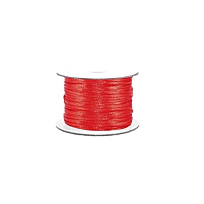 Cordão de seda grosso vermelho (50 mts)- FSG008 ATACADO