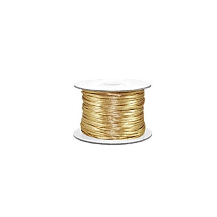 Cordão de seda grosso dourado (50mts)- FSG010 ATACADO
