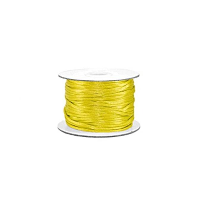 Cordão de seda grosso amarelo citrino (50mts)- FSG011 ATACADO