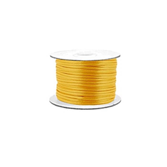 Cordão de seda grosso amarelo canario (50mts)- FSG012 ATACADO