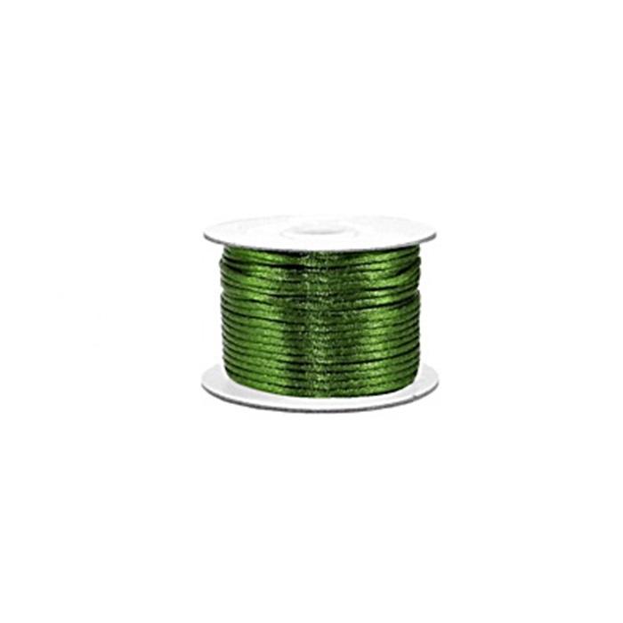Cordão de seda grosso verde musgo ( 50mts)- FSG013 ATACADO