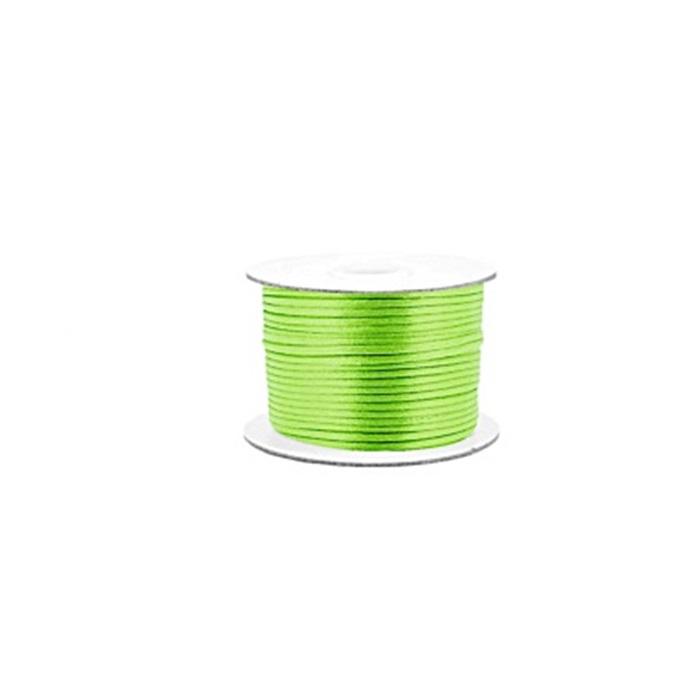 Cordão de seda grosso verde neon ( 50mts)- FSG015 ATACADO