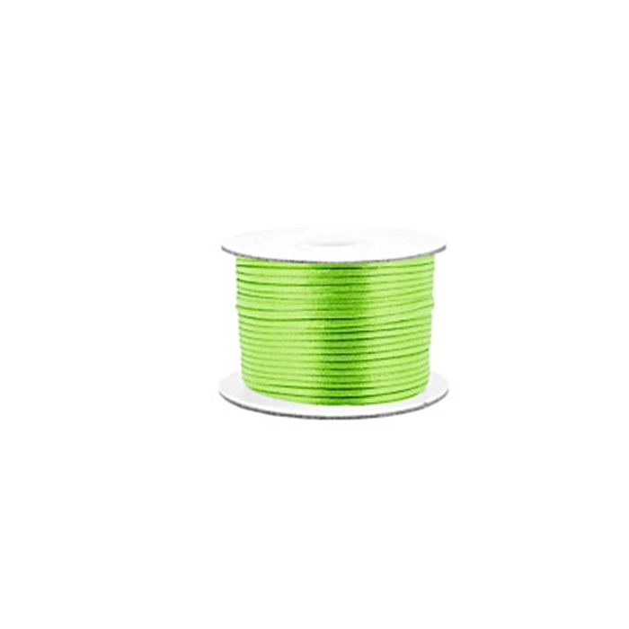 Cordão de seda grosso verde neon ( 10mts)- FSG015