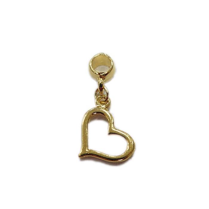 Berloque Dourado Coração Pingente BED021