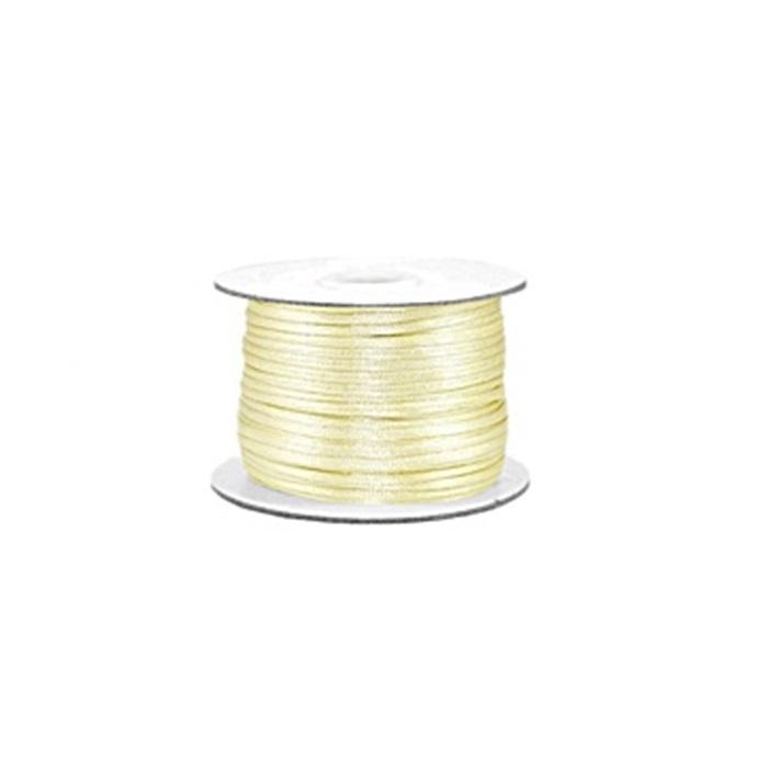 Cordão de seda grosso creme (50mts)- FSG017