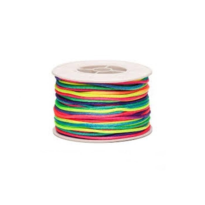 Cordão de seda grosso multicolor (50mts)- FSG018 ATACADO