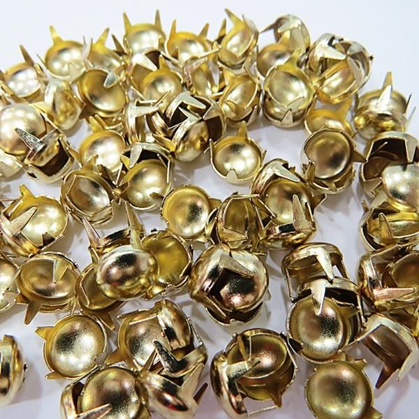 Tachinha Nº 10 dourada redonda (1.000 unid.)- TAC005 ATACADO