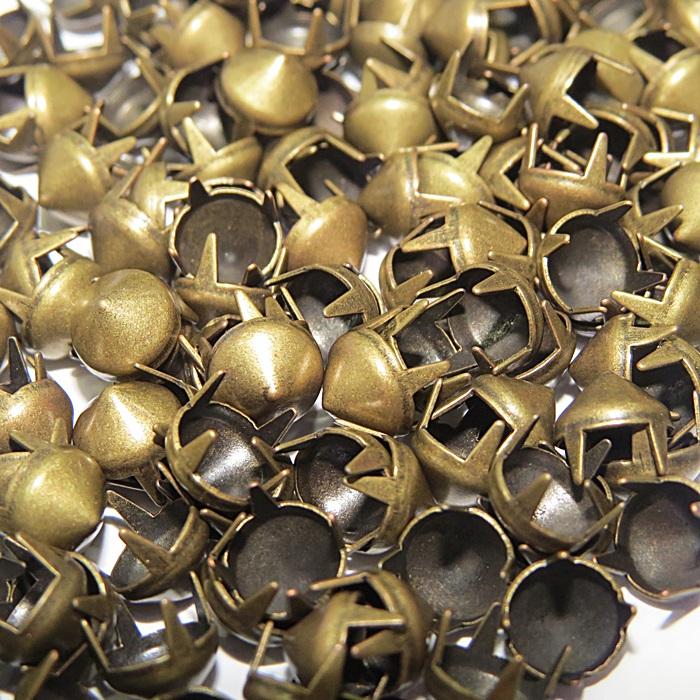 Spike Nº 08 ouro velho redondo ( 100 unid.)- TAC015