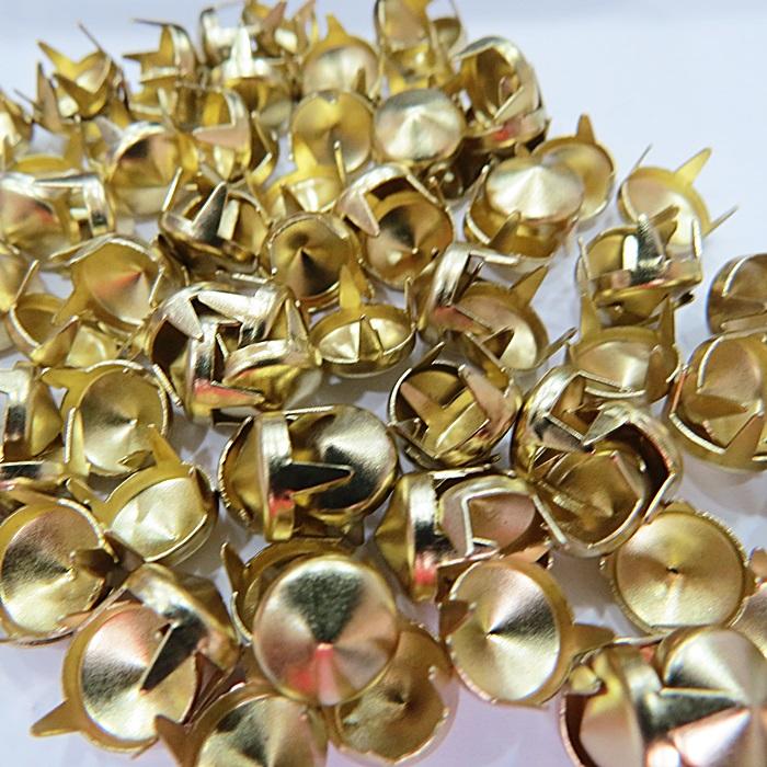 Spike Nº 10 dourado redondo (100 unid)- TAC016