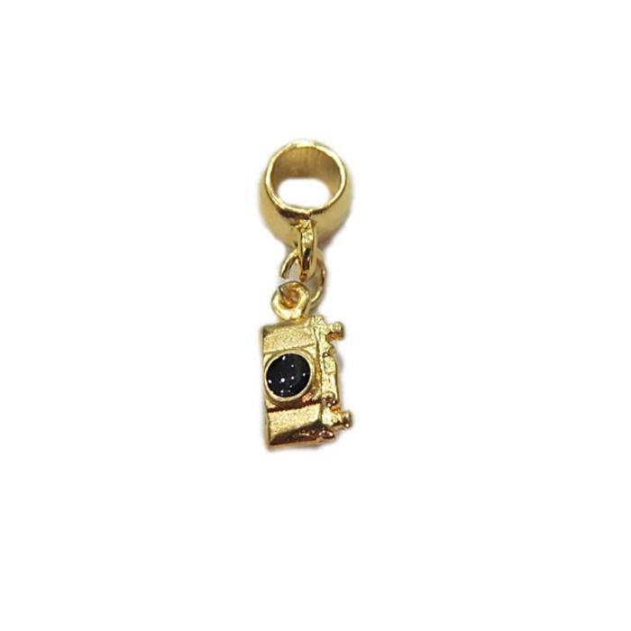 Berloque Dourado Mini  Maquina Fotografica BER038