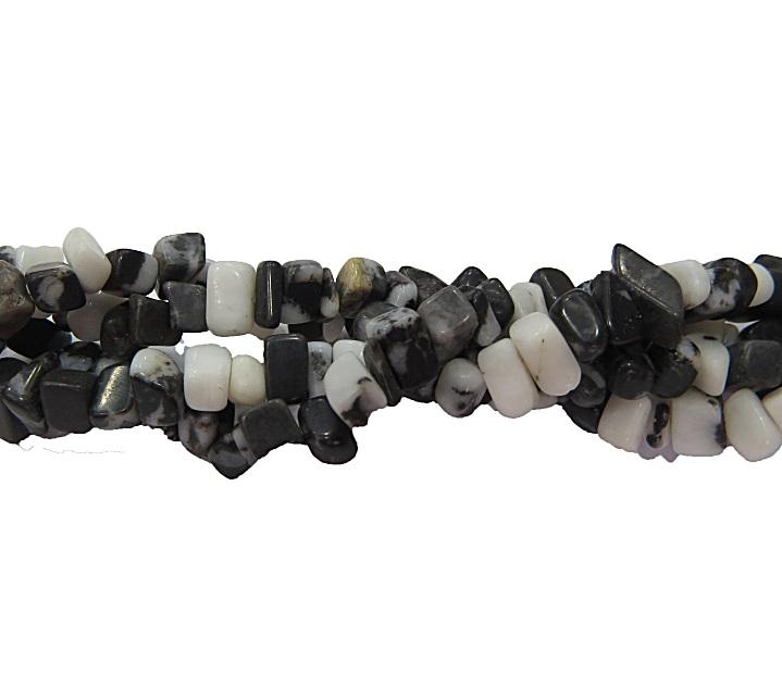 Cascalho natural jade preta/ branca- CAS017