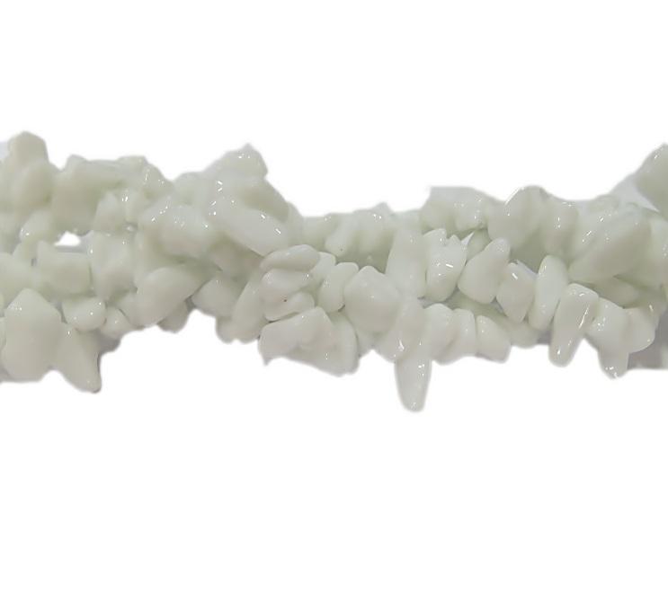 Cascalho natural onix branca- CAS028