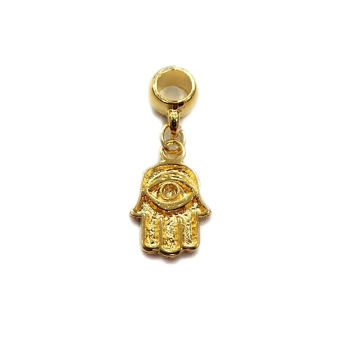 Berloque Dourado Pingente Mao  de Fátima BED046