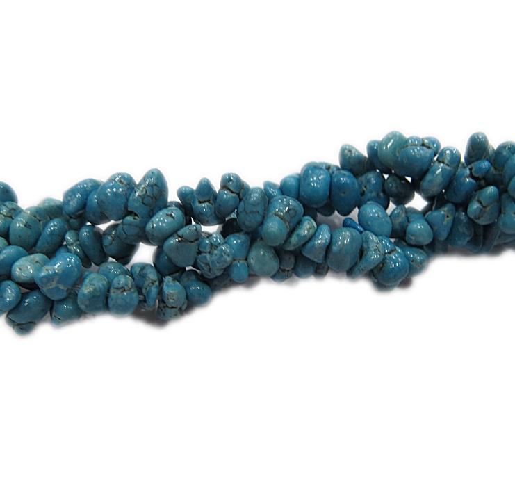 Cascalho natural turquesa c/ vetas- CAS043