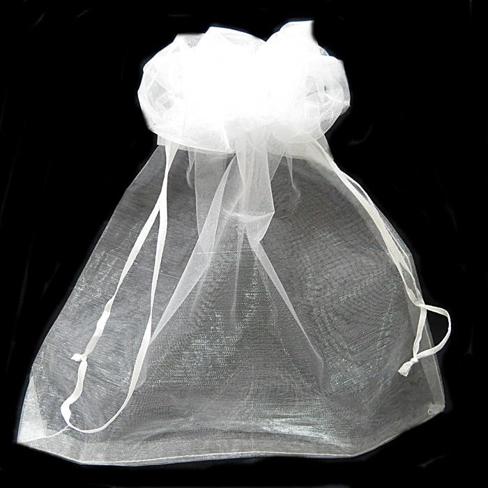 Saco de organza branco  P/ CHINELO35,5x 19,5cm ( 4 unid.)- SO001