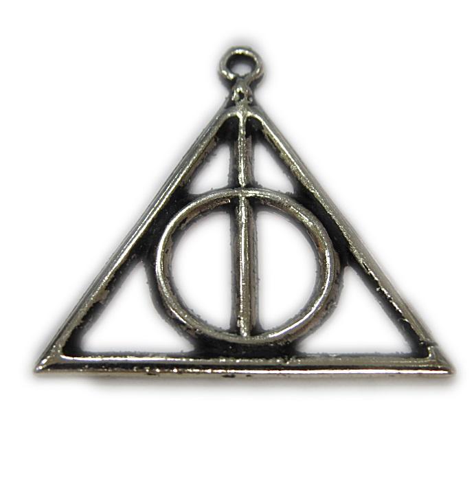 Pingente níquel envelhecido Triangulo Harry Potter- PTN120