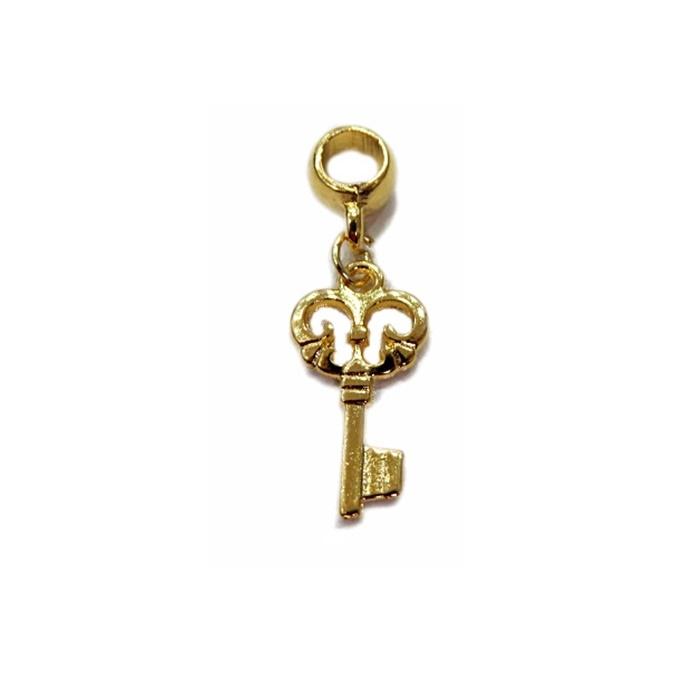 Berloque Dourado Chave I BED026