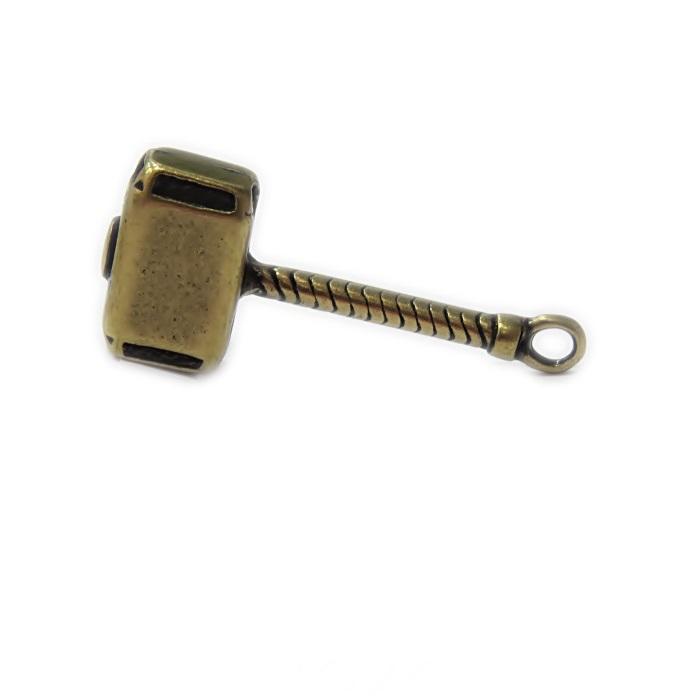 Pingente ouro velho martelo Thor- PTO084