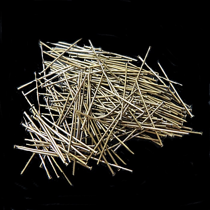 Alfinete ferro ouro velho Nº 30mm ou Nº 50mm (250 gramas)- AFFO001 ATACADO