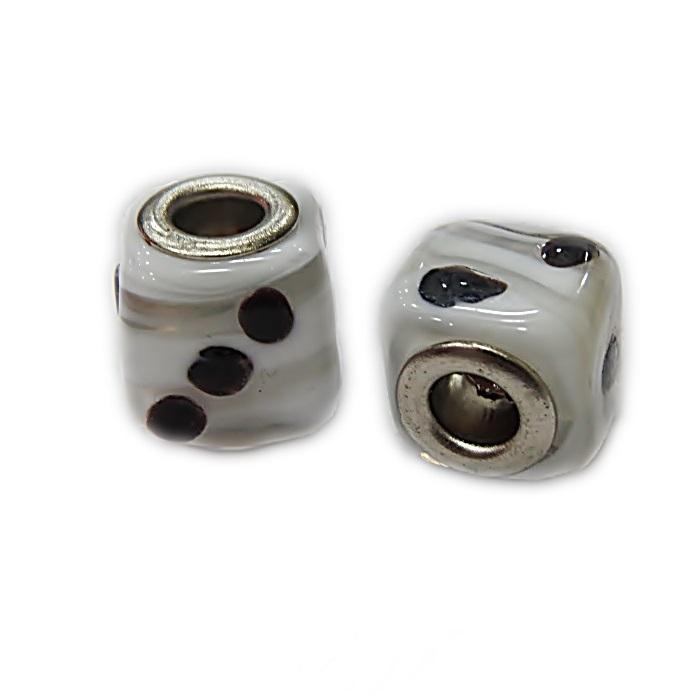 Berloque níquel dado de murano- BEN337