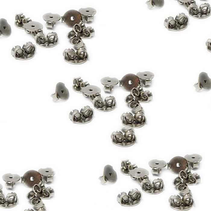 Tarracha borboleta níquel latão (20 pares)- TBAN001