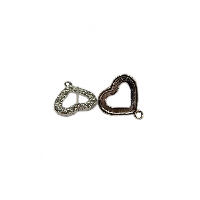 Base de brinco níquel coração P (3 pares)- BAN001