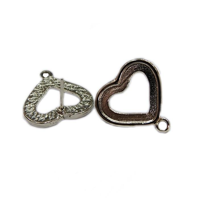 Base de brinco níquel coração M (2 pares)- BAN002