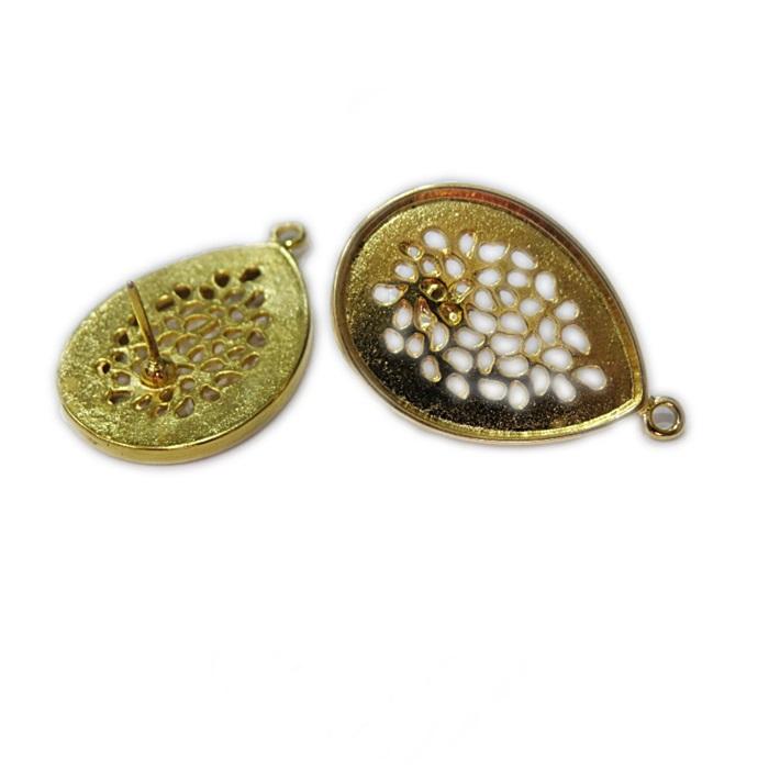 Base de brinco dourada gota grande (1 par)- BAD007
