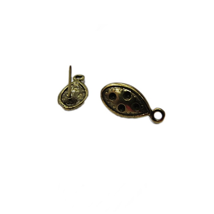 Base de brinco ouro velho navete G (3 pares)- BAO003