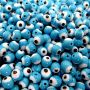 Olho grego azul turquesa Nº 06 (20 unidades)- OG005