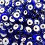 Olho grego entremeio achatado de murano azulão (20 unidades)- OGE001