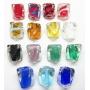 Facetados De Muranos M Transparente Com Miolo Colorido  - MU857