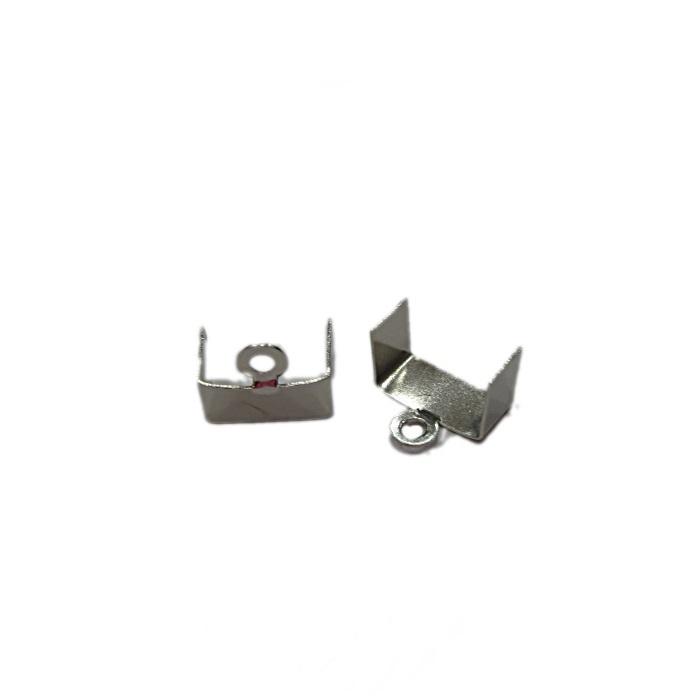 Terminal de amassar c/ saida níquel N°01 - 3mm largura (Atacado e Varejo) - TAN001