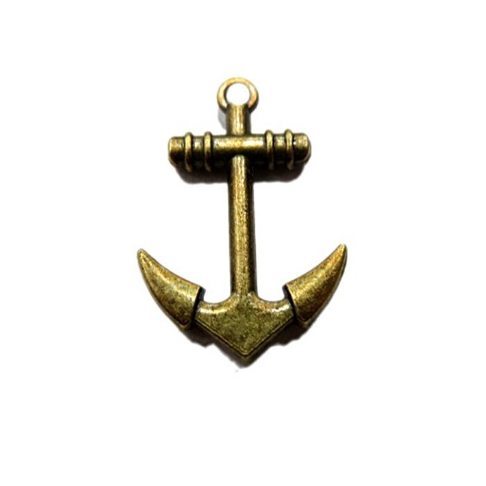 Pingente Âncora II ouro velho- PTO003