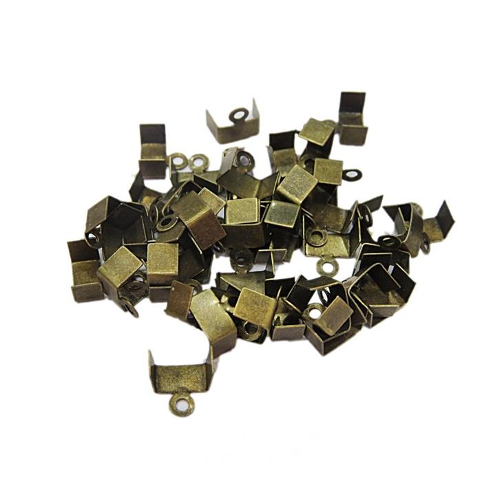 Terminal de amassar c/ saida ouro velho 5mm (100 unid.)- TAO002